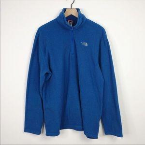 The North Face Men's Royal Blue Fleece Quarter Zip